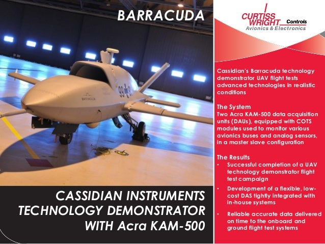 Cassidian's Barracuda technologydemonstrator UAV flight testsadvanced technologies in realisticconditionsThe SystemTwo Acr...