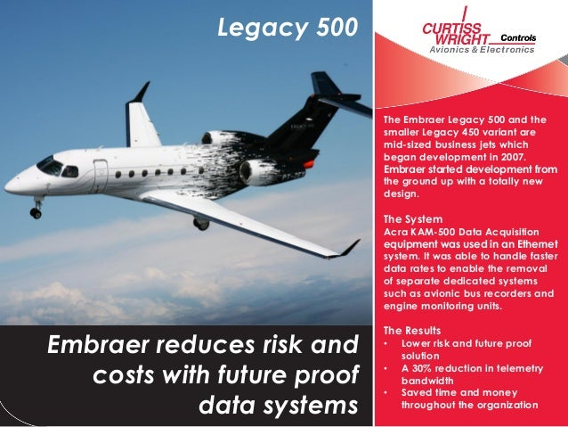Legacy 500                             The Embraer Legacy 500 and the                             smaller Legacy 450 varia...