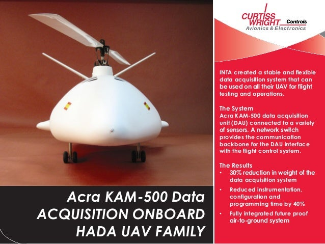 INTA created a stable and flexibledata acquisition system that canbe used on all their UAV for flighttesting and operation...
