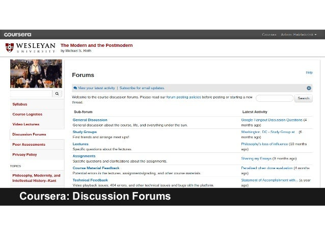 Coursera: Discussion Forums