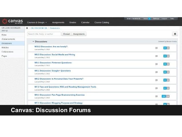 Canvas: Discussion Forums