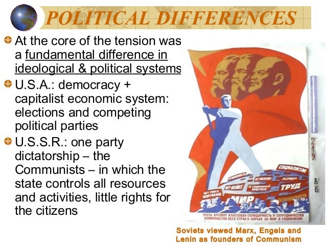 ideological differences and the cold war The division of eastern and western europe diverged by ideological and political differences as a result the cambridge history of the cold war.