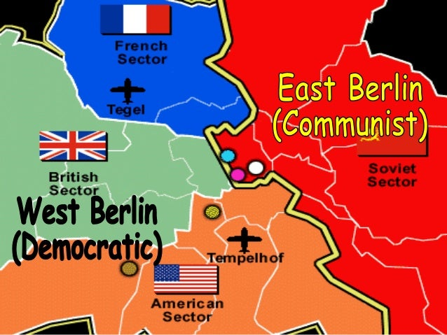 Cold War Beginning - Us and ussr map