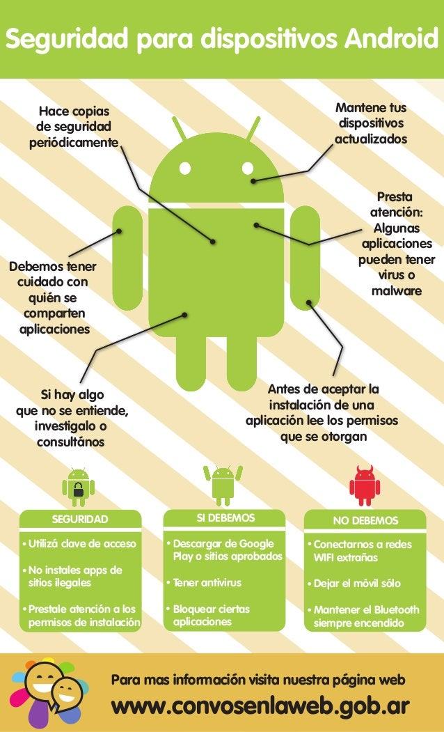 Seguridad para dispositivos Android    Hace copias                                                Mantene tus    de seguri...