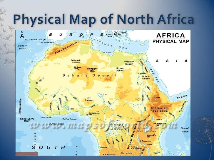 CWG North Africa - North africa physical map