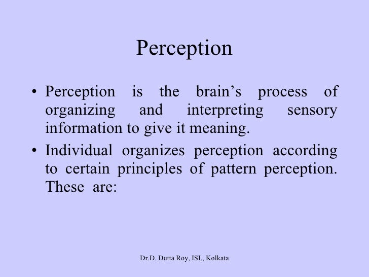 sensation perception and attention essay Perception introduction perception is defined as a process by which organisms interpret and organize sensation to produce a meaningful experience of the world.