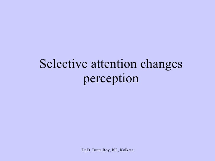 What Is the Connection between Perception and Attention?