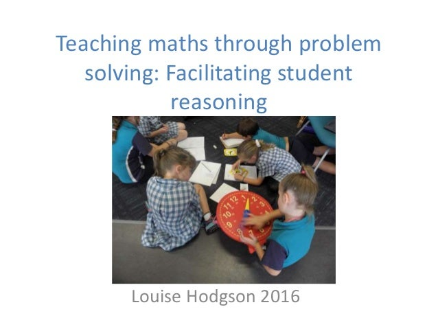 how to teach problem solving in math
