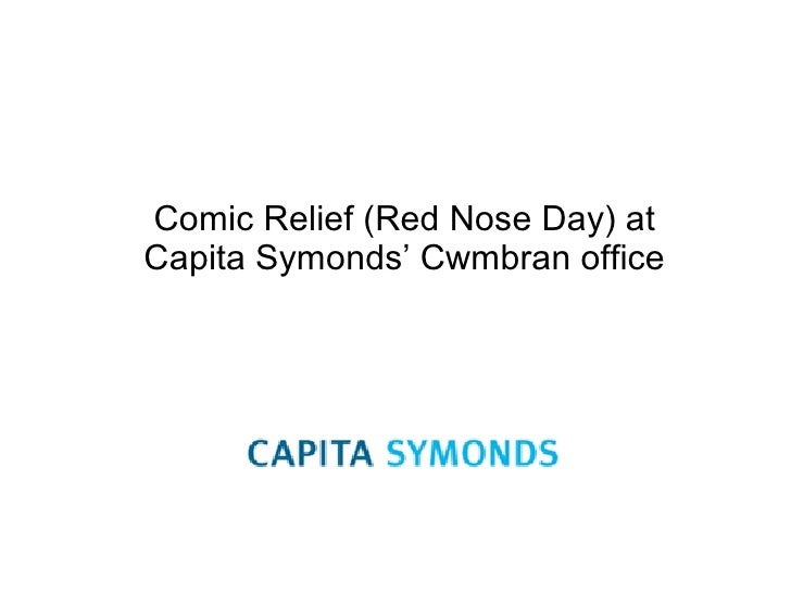 Comic Relief (Red Nose Day) at Capita Symonds' Cwmbran office