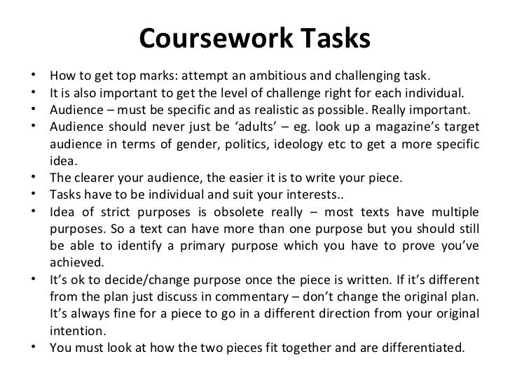 litb4 coursework ideas