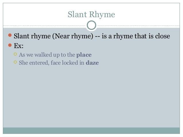 Understanding Slant Rhyme