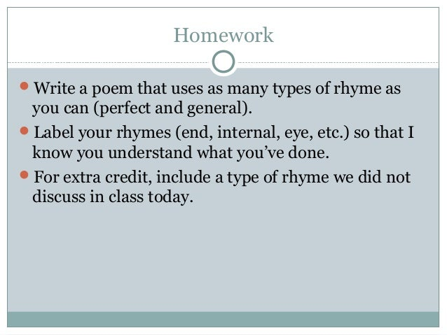 rap poems about homework
