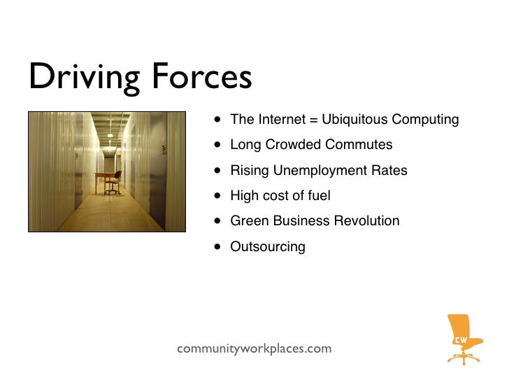 Driving Forces               •   The Internet = Ubiquitous Computing                •   Long Crowded Commutes             ...