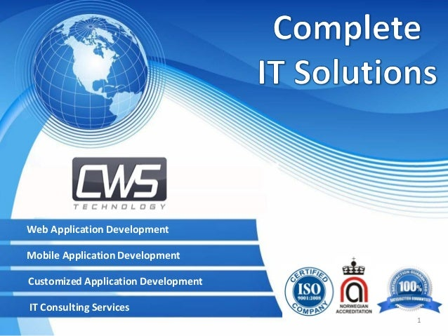 Web Application Development  Mobile Application Development Customized Application Development IT Consulting Services 1