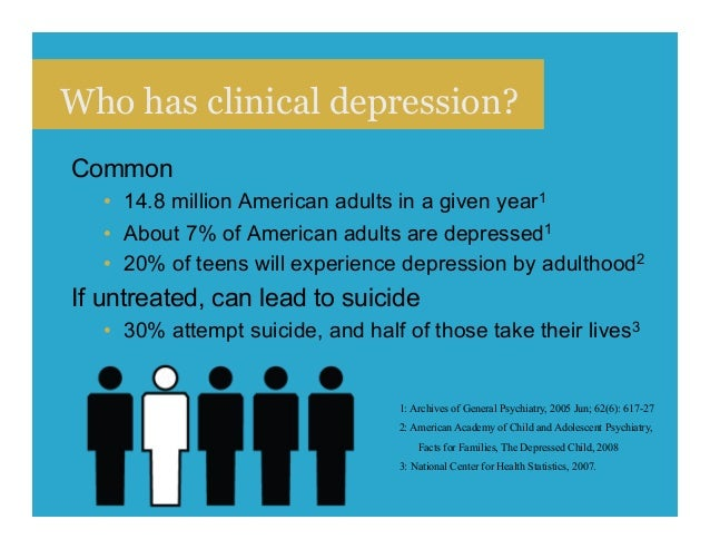 Interesting. Tell adults coping with depression really