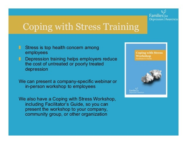 coping with stress in an organization 41 chapter 2 theoretical framework: the stress-coping model this chapter will begin by exploring the conceptual origins and definitions of stress, coping.