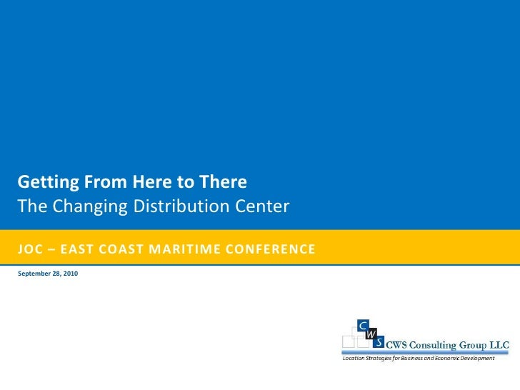 Getting From Here to There The Changing Distribution Center  JOC – EAST COAST MARITIME CONFERENCE September 28, 2010