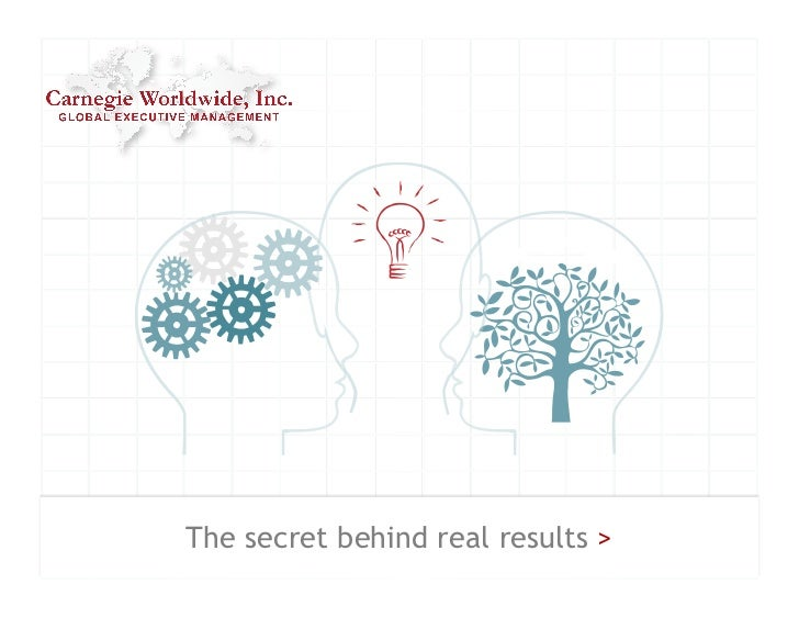 The secret behind real results >