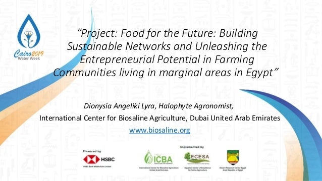 """""""Project: Food for the Future: Building Sustainable Networks and Unleashing the Entrepreneurial Potential in Farming Commu..."""