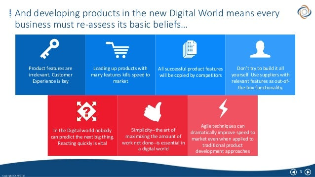 3 Copyright CX NPD ltd And developing products in the new Digital World means every business must re-assess its basic beli...