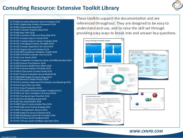 CopyrightCXNPD WWW.CXNPD.COM Consul)ngResource:ExtensiveToolkitLibrary Thesetoolkitssupportthedocumenta<on...