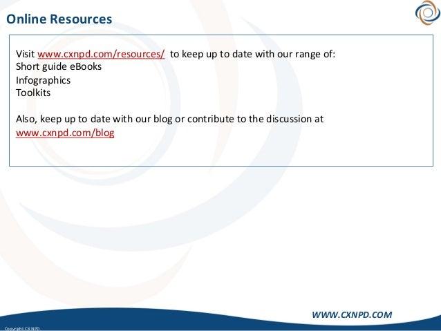 CopyrightCXNPD WWW.CXNPD.COM OnlineResources Visitwww.cxnpd.com/resources/tokeepuptodatewithourrangeof:...
