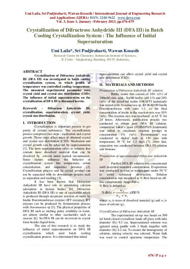 Umi Laila, Sri Pudjiraharti, Wawan Kosasih / International Journal of Engineering Research                 and Application...