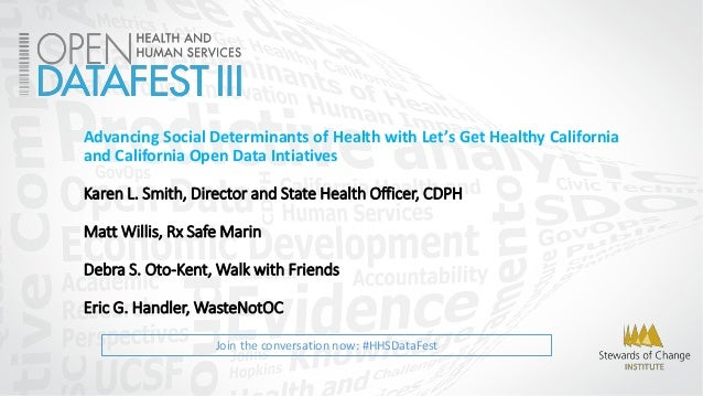 Join the conversation now: #HHSDataFest Advancing Social Determinants of Health with Let's Get Healthy California and Cali...