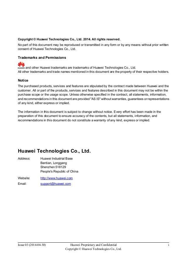 Huawei Configuration Guide