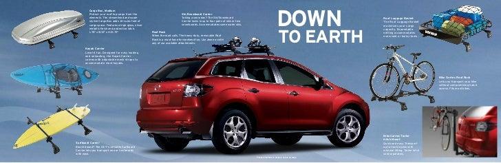 2011 Mazda Cx7 Crossover Suv Parts And Accessories Brochure Provided