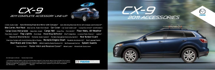 Mazda Portal Login >> 2012 Mazda CX9 crossover SUV parts and accessories brochure, provided…