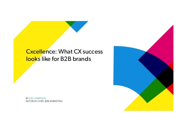 Cxcellence: What CX success looks like for B2B brands