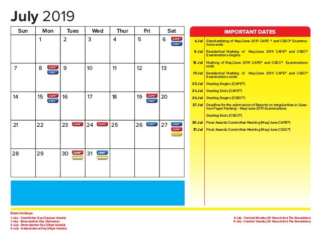 2019 CXC Annual Planner