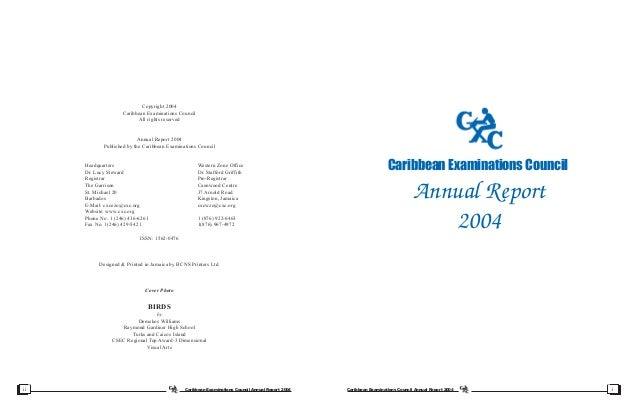 CXC Annual Report 2004