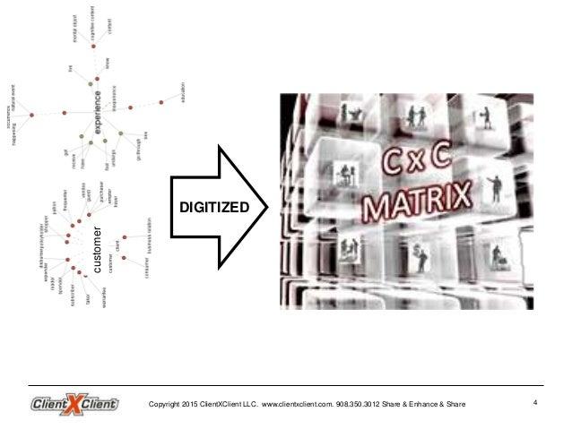 CxC Customer Experience Matrix Overview ClientxClient