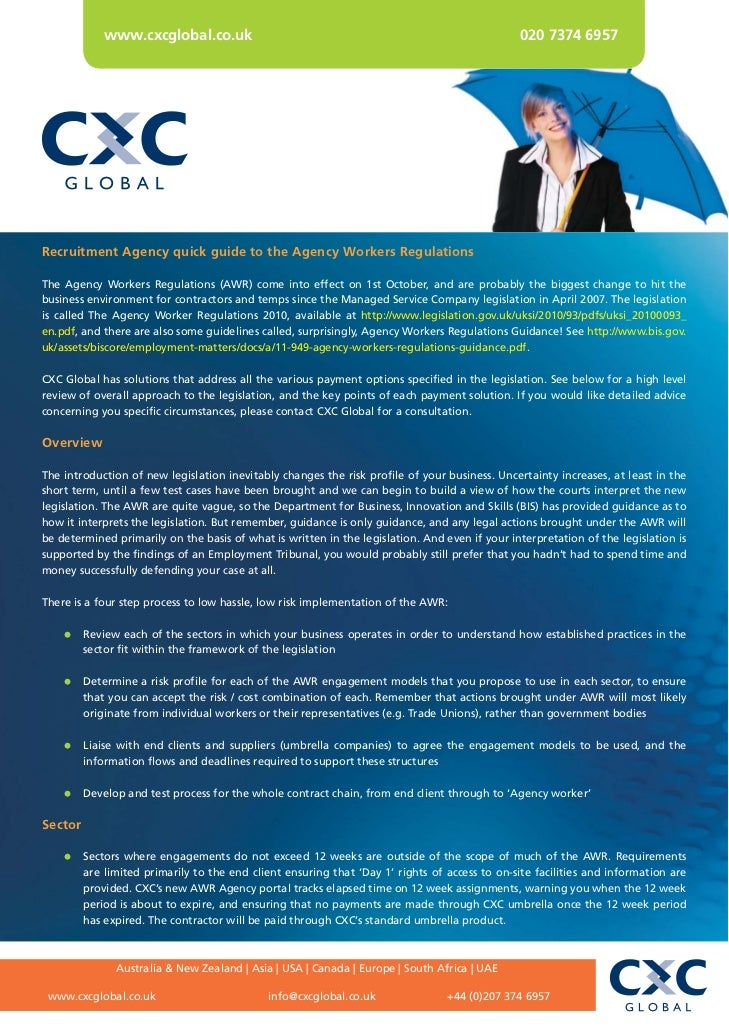 www.cxcglobal.co.uk                                                                020 7374 6957Recruitment Agency quick g...