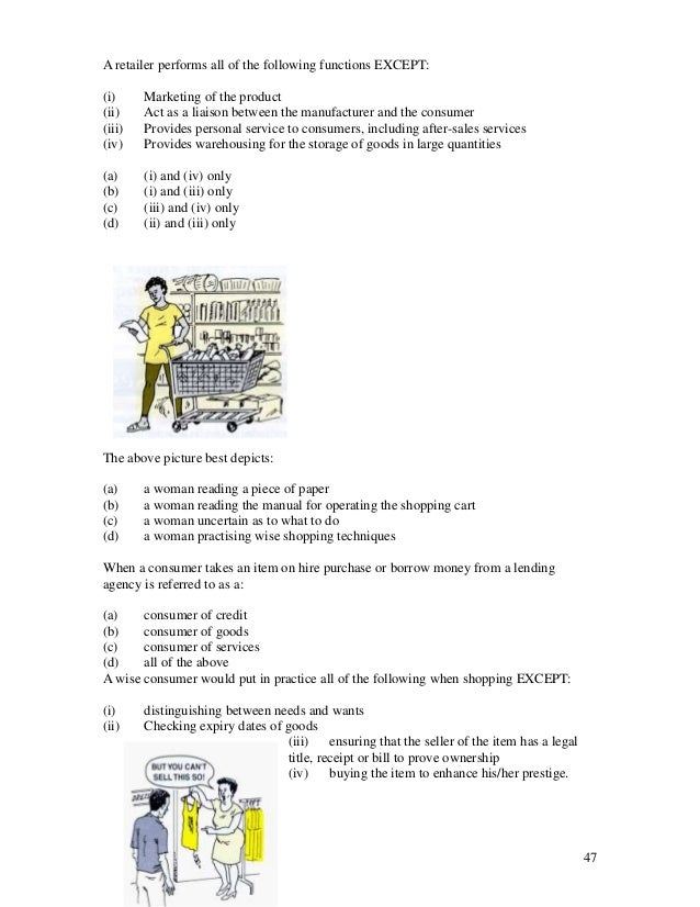 Cxc past papers for social studies with multiple choice questions