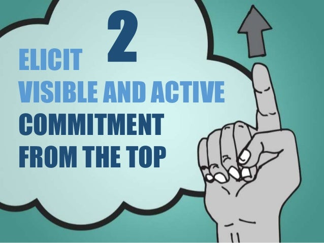 ELICIT VISIBLE AND ACTIVE COMMITMENT FROM THE TOP 2