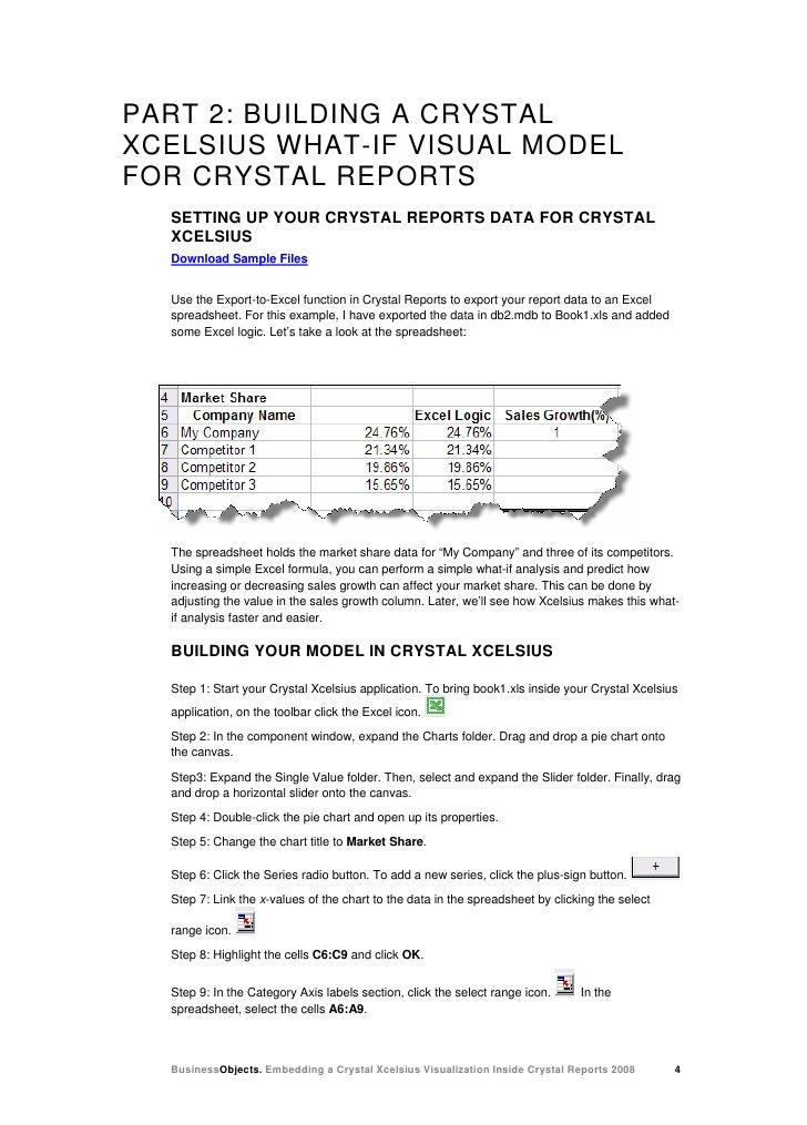 Embedding Xcelsius In Crystal Reports 2008