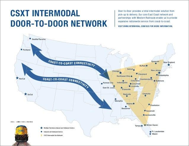 CSXT Intermodal DoortoDoor Network Map - Intermodal map us