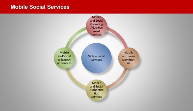 Mobile Social Services Mobile and Social Marketing, Advertise ment services Mobile and Social Gamificati on Mobile and Soc...