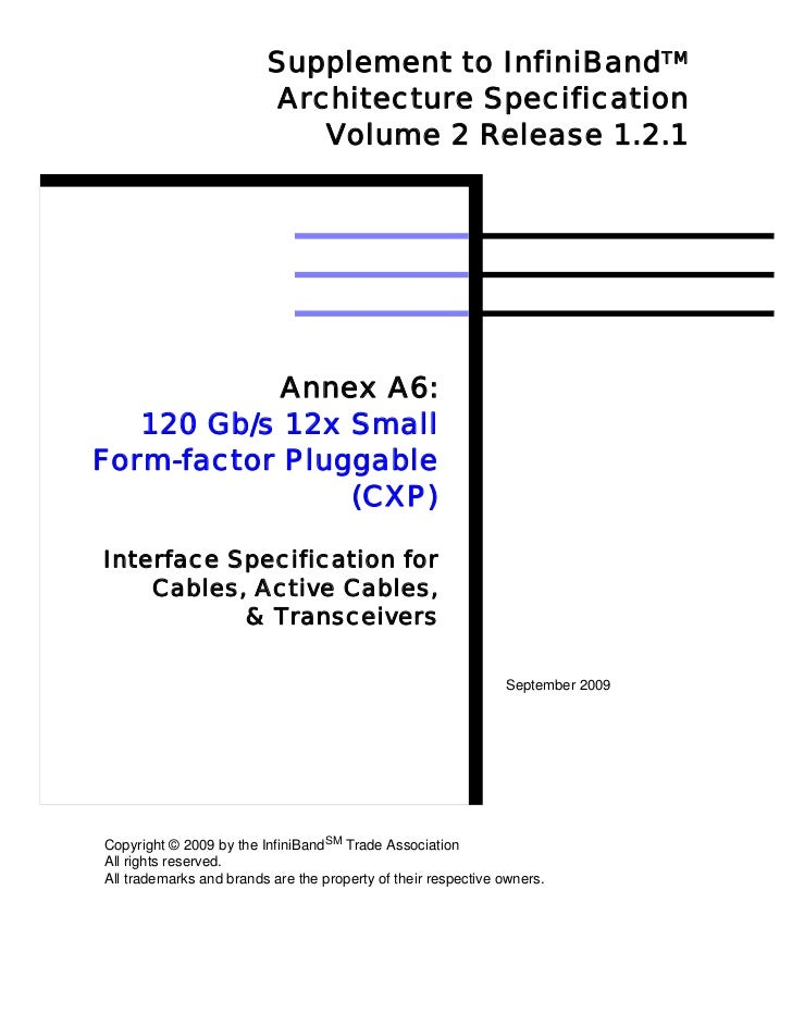 Supplement to InfiniBandTM                         Architecture Specification                            Volume 2 Release ...