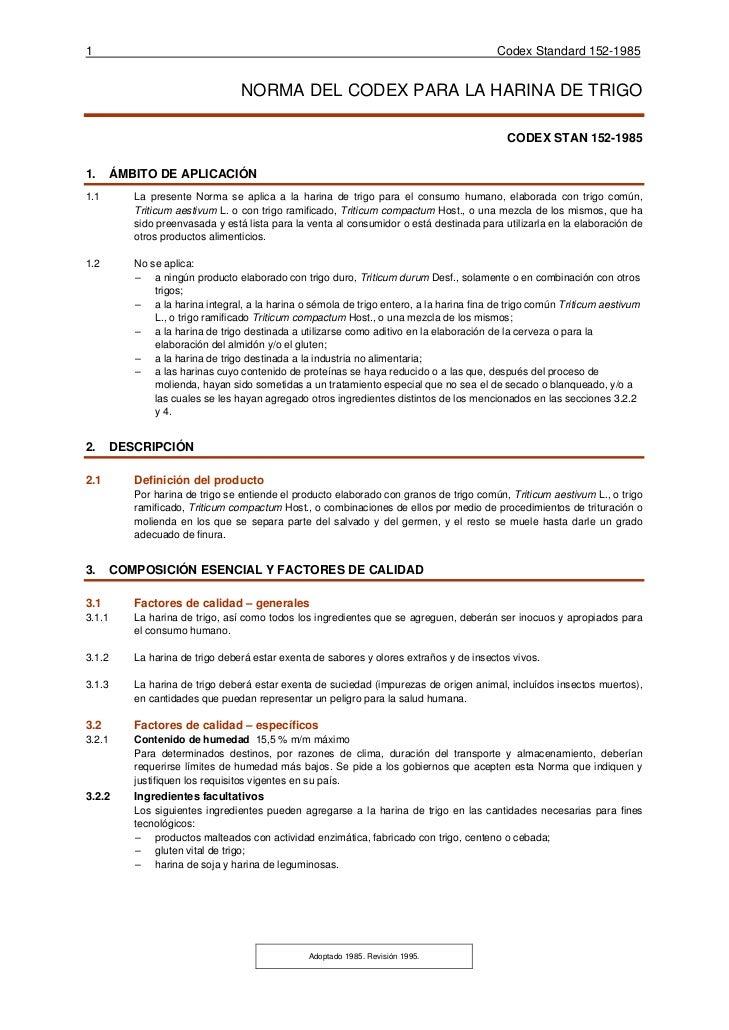 1                                                                                         Codex Standard 152-1985         ...