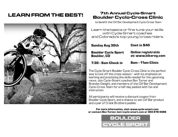Boulder Cyclocross Skills Clinic