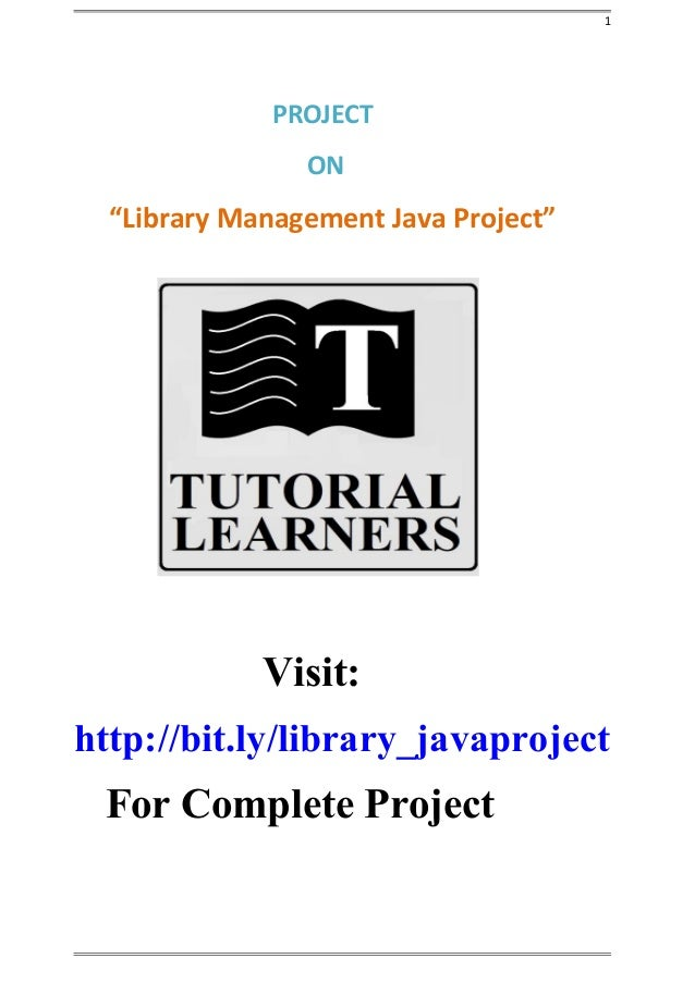 Library Management java project