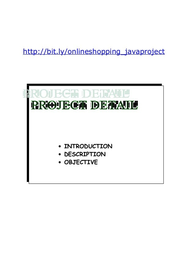 Java online shopping project