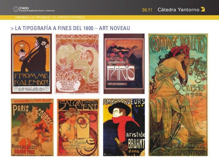DG.Y1 TIPOGRAFÍA: LA TIPOGRAFÍA Y EL CONTEXTO HISTÓRICO> La Tipografía a fines del 1800 – Art Noveau