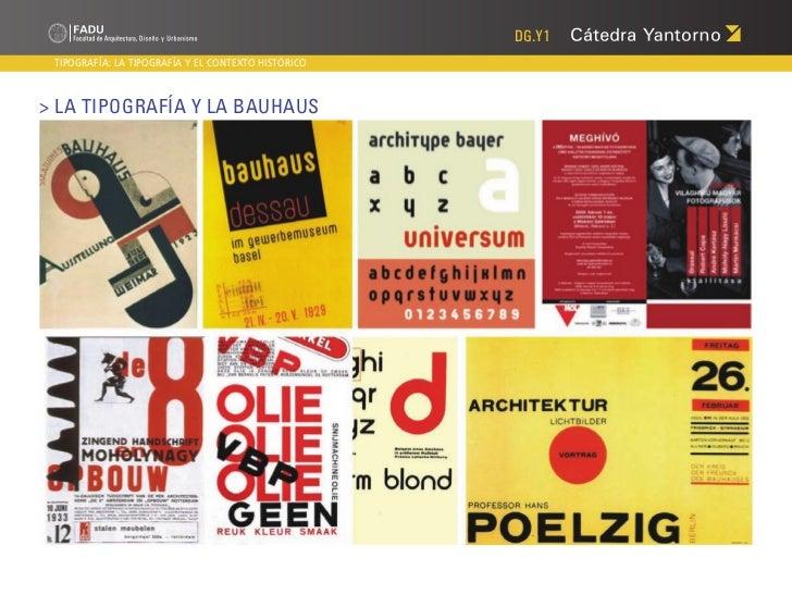 DG.Y1 TIPOGRAFÍA: LA TIPOGRAFÍA Y EL CONTEXTO HISTÓRICO> La Tipografía y la Bauhaus