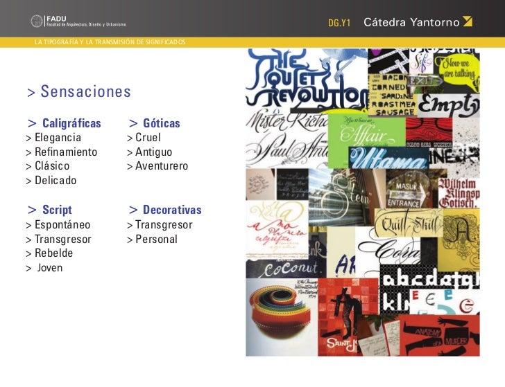 DG.Y1 LA TIPOGRAFÍA Y LA TRANSMISIÓN DE SIGNIFICADOS> Sensaciones> Caligráficas              > Góticas> Elegancia      ...