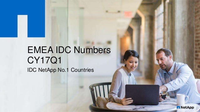 EMEA IDC Numbers CY17Q1 IDC NetApp No.1 Countries